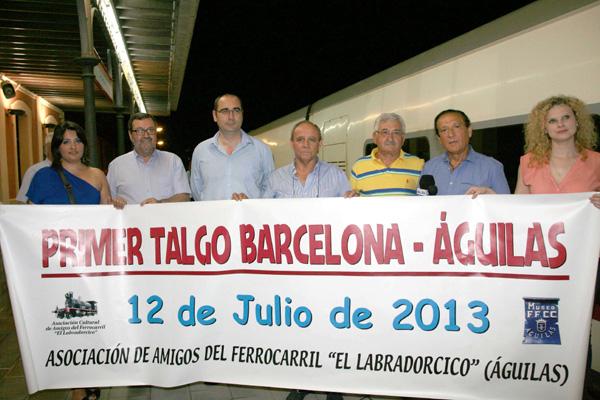 LLEGADA TALGO BARCELONA - AGUILAS AUTORIDADES