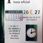 CAMBIO DE HORA, OFICIAL, ADELANTAR, ATRASAR,