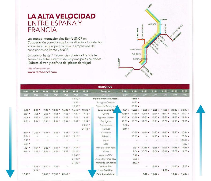 Horarios TGV murcia lorca francia RENFE